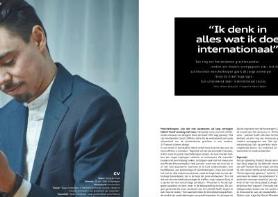 Ontwerper Seroj de Graaf (Audi Magazine)